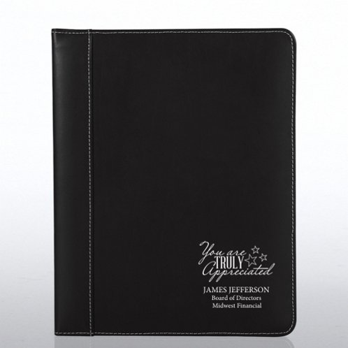 Black Genuine Leather Padfolio